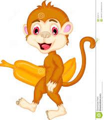 cartoon monkey holding banana stock illustration image 39550115