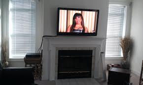 fireplace tv mantel ideas console big lots hidden open doors sams