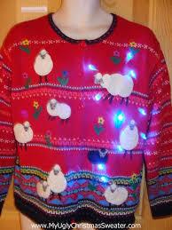 up christmas sweater white black sheep