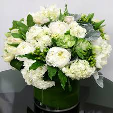 gardenia flower delivery white and green chic vase in zionsville in zionsville flower company