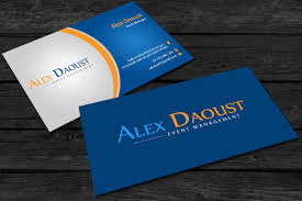 Event Business Cards Modern Masculine Business Card Design For Alex Daoust By