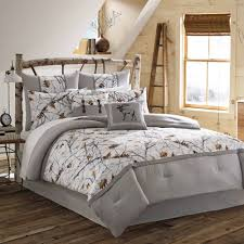 White Bed Set King True Timber Snowfall Bedding Comforter Set White Walmart Com