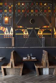 Wall Bar Ideas by Very Funky Painted Wall And Wooden Furniture In The Duende