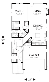 Narrow House Plans With Garage 170 Best House Plans Images On Pinterest Floor Plans Home Plans