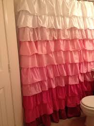 Ruffled Curtains Pink Curtains Ideas Grey Ruffle Shower Curtain Inspiring Pictures