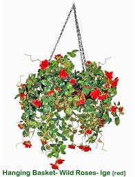 Fake Roses Artificial Roses Fake Roses Artificial Plants In Hanging Baskets