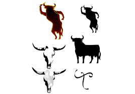 spanish bull silhouette download free vector art stock graphics