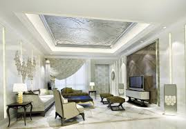 interior modern decorative ceiling tiles living room in bright