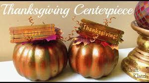 thanksgiving centerpiece diy fall crafts craft klatch