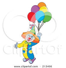clown balloon royalty free rf clipart illustration of a clown floating