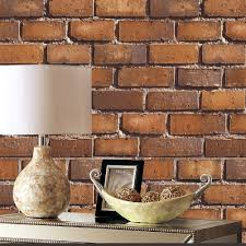 vintage faux brick textured 3d wallpaper red white for wall decor
