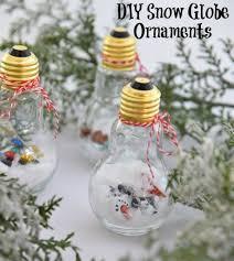 diy snow globe ornaments oc