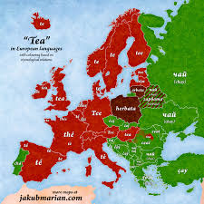 Map Of Southern Europe by Map U201ctea U201d In European Languages