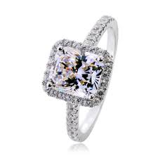 princess cut 3 engagement rings 3 carat princess cut sterling silver 925 sona simulated