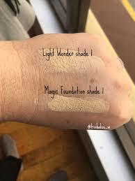 charlotte tilbury light wonder foundation swatches charlotte tilbury magic foundation swatches and comparisons