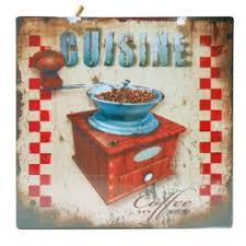 plaque deco cuisine retro plaque décorative murale cuisine moulin a café en métal