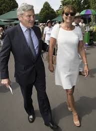 carole middleton wears white u0026 wedges for wimbledon day 4