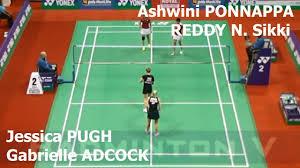 Reddy K Hen Badminton 2017 Indiao R32 Gabrielle Adcock Jessica Pugh Vs
