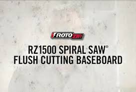 rotozip spiral saw flush cutting baseboard with the rz1500 youtube