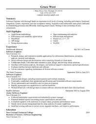 Software Engineer Resume Template best software engineer resume exle livecareer