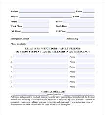 sample emergency release form 12 download free documents in pdf