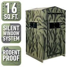 shadow hunter hunting blinds hunting gear supplies the 4 ft x 4 ft insulated gun hunting blind kit assembly required