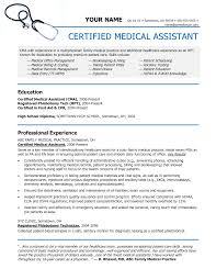 Sample Resume Objectives For Nurse Educator by Medical Assistant Sample Resume Resume For Your Job Application