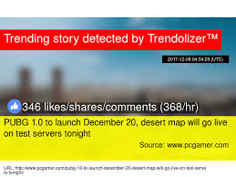 pubg 0 for url pubg 1 0 to launch december 20 desert map will go live on test