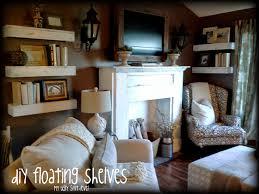 Poor Living Room Designs My Ugly Split Level Diy Living Room Shelves