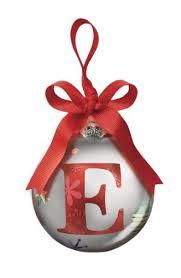 christmas ornaments with initials ganz christmas initial ornament e glass