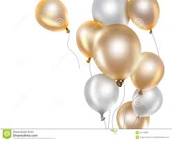 gold balloons gold and white balloons stock illustration image 58710985