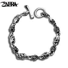 bracelet skull silver images Zabra luxury 925 silver bracelets men vintage punk crown mens jpg