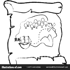 jake and the neverland pirates treasure map template old with hand