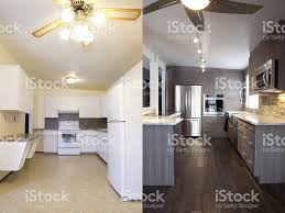 home renovations kitchen before and after stock photo 465476659