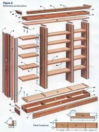 free plans to build a tall bookshelf with adjustable shelves from