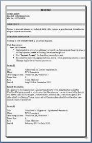 Experience Resume For Mechanical Engineer Professional Cv Format Mechanical Engineer