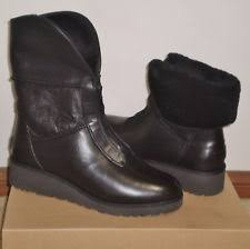 ugg australia s emalie waterproof wedge boot 7us stout brown ugg australia s zip wedge boots ebay