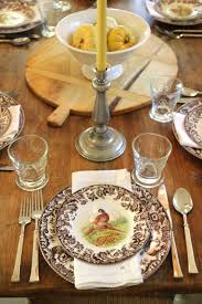 steffens hobick creams brown fall table setting spode