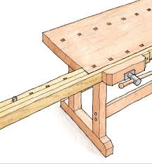 Free Simple Wood Workbench Plans by Free Plan Workbench Extension For Extra Clamping Finewoodworking