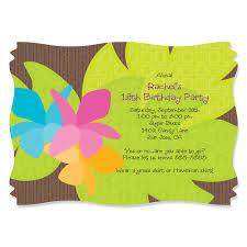 luau invitations luau personalized birthday party invitations bigdotofhappiness
