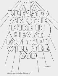 coloring pages for kids by mr adron blessed are the pure in