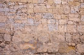 ancient stone wall texture walls of times of knights malta stock