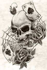 with spider web and skull design