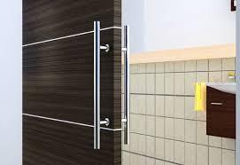 Barn Door Closet Hardware European Modern Satin Stainless Steel Sliding Barn Wood Door