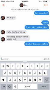 Chat Up Line Meme - vegan tinder chat up line