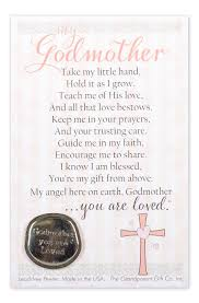 godfather or godmother pewter gift coin with poem