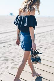 Rhode Island traveling outfits images Off the shoulder top in santa monica jpg