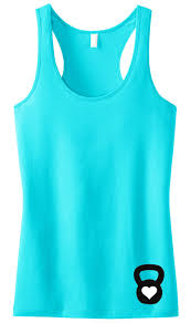 Pick Color by Kettle Belle Workout Tank Top Teal Racerback