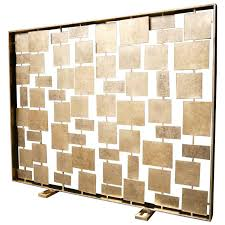 contemporary fireplace screens mid century fireplace screen