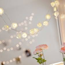 String Lights In Bedroom by 30 Led White Rose Flower Indoor Fairy Lights By Lights4fun Amazon
